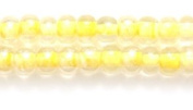 Preciosa Ornela Czech Seed Bead, Light Yellow Lined Crystal Super Lustre, Size 6/0