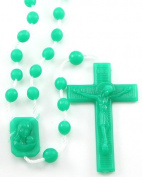 Rosarybeads4u Green Plastic Prison Issue Rosary Beads Rosaries