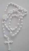 Small N Smart Rosary Prison Issue Rosary Beads - White