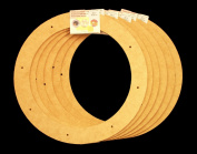 6 Pack, 30cm Biodegradable Floral Craft Ring, Ez Glueable Wreath Form, for Photo Frame, Candle Ring, Etc