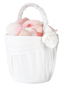 Lillian Rose Rose Flower Basket, 20cm , Cream
