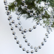 36 feet Silver Disco Ball Beaded Garlands - Christmas Decorations