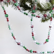 36 feet Red and Green Beaded Garlands - Christmas Decorations