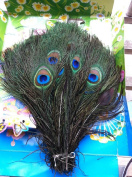 100pcs Real Natural Peacock Feather 10-12 Inches Wedding Decoration Feathers
