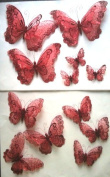 Double Layer Butterfly Deco