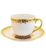 Coffee cup border pattern (louk-khran) product of Thailand