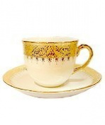 Coffee cup design flower gold product of Thailand