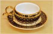 Coffee Cup Design Gold swell Product of Thailand