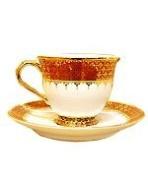 Circle coffee cup benjarong, Pikul-Thong pattern Product of Thailand