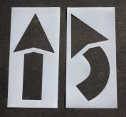 RAE - 110cm ARROW KIT Plastic Pavement Stencil, 0.2cm - Duro-Last