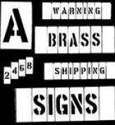 Brass Interlocking Stencils (CH Hanson Series 311) 5.1cm Number Set