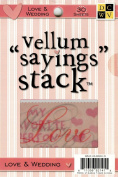 Die Cuts With A View Love and Wedding Vellum Saying Stack