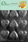 Cybrtrayd Medium Heart with Flowers Valentine Soap Mould