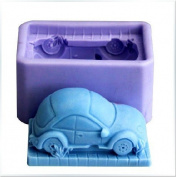 6.6cm Cute Car 0698 Craft Art Silicone Soap mould Craft Moulds DIY