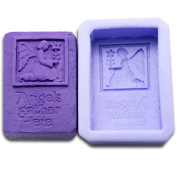 Angels here 0980 Craft Art Silicone Soap mould Craft Moulds DIY Handmade soap moulds