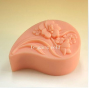 Cute Flowers 50367 Craft Art Silicone Soap mould Craft Moulds DIY Handmade soap moulds