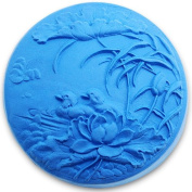 mandarin duck in lotus pond 0999 Craft Art Silicone Soap mould Craft Moulds DIY Handmade soap moulds