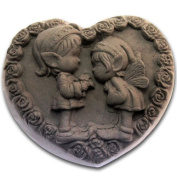 Heart childhood sweetheart 0984 Craft Art Silicone Soap mould Craft Moulds DIY Handmade soap moulds