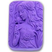 Rose Girl 0982 Craft Art Silicone Soap mould Craft Moulds DIY Handmade soap moulds