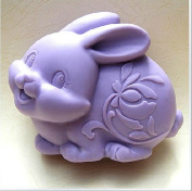 Cute Rabbit tuzi Craft Art Silicone Soap mould Craft Moulds DIY Handmade soap moulds