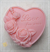 7.6cm Love for ever 50307 Craft Art Silicone Soap mould Craft Moulds DIY