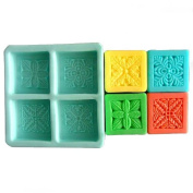 4-Cavity Plants 0088 Craft Art Silicone Soap mould Craft Moulds DIY Handmade soap moulds