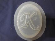 K Monogram Alphabet Letter Soap Mould 4693