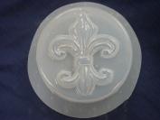 Fleur De Lis Round Bar Soap Mould 4674