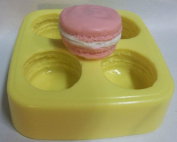 French Macaroon Soap & Candle Mould - 4 Cavity Mould