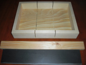 Wooden Soap Mould Loaf/cutter Makes 6 Bars 11cm X 11cm
