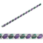 Green And Purple Over White Ribbon Cane - 96 Coe