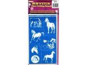 Rub N Etch Stencil - Horses