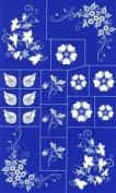 Rub N Etch Stencil - Floral Corners