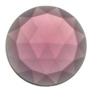 Stained Glass Jewels - 25mm Round Faceted - Amethyst