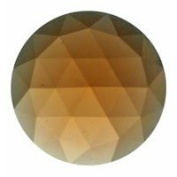 Stained Glass Jewels - 25mm Round Faceted - Peach