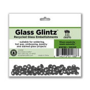 Eco Green Crafts 8Mm Recycled Glass Glintz, Smoke