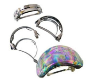 Ponytail Holder Barrette Clips - 3 Pack
