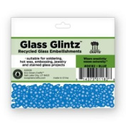 Eco Green Crafts 8Mm Recycled Glass Glintz, Blue