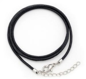 41cm Black Leather Cord Necklace - 10 Pack