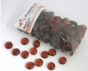 Medium Amber Transparent Pebbles - 96 Coe
