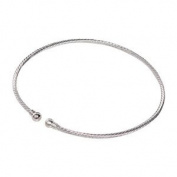 Silver Plated Spiral Choker Neckwire - 2 Pack