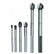 Professional Carbide Tip Glass and Tile Cutting Drill Bits 6 Piece