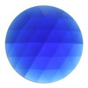 Stained Glass Jewels - 50mm Round Faceted - Dark Blue