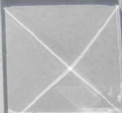 Box of 30 2.5cm x 2.5cm Square Pyramid Glass Bevels