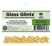 Eco Green Crafts 8Mm Recycled Glass Glintz, Amber