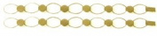 Gold Plate Hammered Link Bracelet - 2 Pack