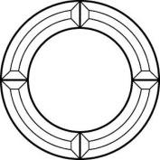 23cm Circle Frame Bevel Cluster