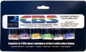 Cbs Dichroic Extract 6 Piece Solid Colours Sample Set