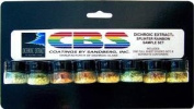 Cbs Dichroic Extract 8 Piece Splinter Rainbow 1 Sample Set
