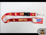 Ncaa Licenced USC Trojans - Red Detachable 60cm Lanyard
